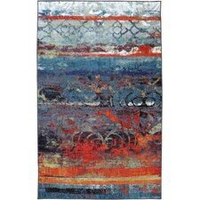Strata Eroded Color Multi Printed Area Rug