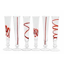 Crazy Cordials Flute Glass (Set of 6)