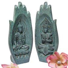 2 Piece Namaskara Mudra Buddha Hand Figurine Set