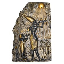 Pharaoh Akhenaten Offering to Aten the Sun Wall Décor