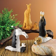 3 Piece The Zen of Canine Yoga Dog Statue Set