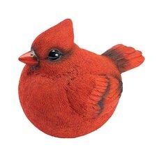 Cardinal Burly Bird Statue