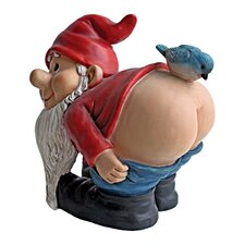 Moonie Bare Buttocks Garden Gnome Statue