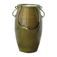 Ceramic Rippling Jar Garden Ceramic Urn Fountain