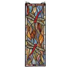 Tiffany Dragonfly Stained Glass Window