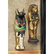 King Tut and Anubis Icons of Ancient Egypt Wall Decor Set