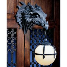Marshgate Castle Dragon Sculptural Electric Wall Sconce