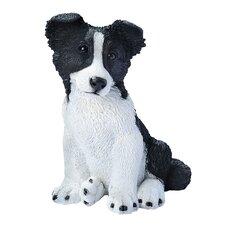 Border Collie Puppy Dog Figurine