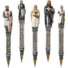 5-Piece Medieval Templar Knights Pen Set