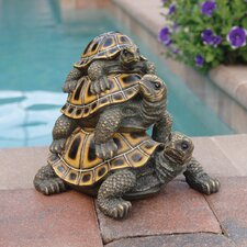 Three's A Crowd Stacked Turtle Statue