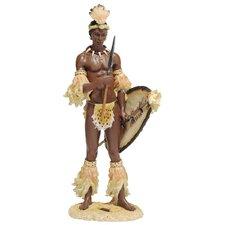 Shaka the Zulu Warrior King Figurine
