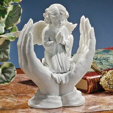Bonded Marble Prayers of an Angel Figurine by Design Toscano