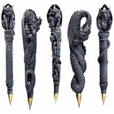 Gargoyles and Dragons Sculptural Pen (Set of 5)