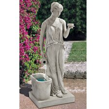 Resin Hebe, Goddess of Youth Garden Fountain