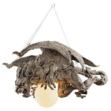 Nightfall Sculptural Gargoyle 1 Light Chandelier