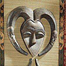 African Tribal Wall Mask Kwele Wall Décor