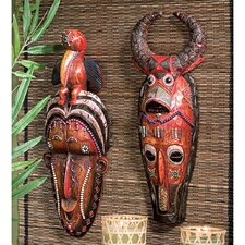 2 Piece Masks of the Congo Wall Décor Set