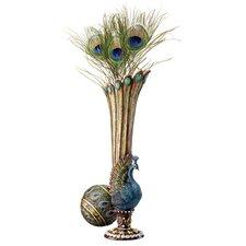 Peacock Bud Vase