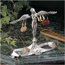 Angel Italian Pewter Jewelry Holder