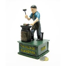 The Village Blacksmith Collectors' Die Cast Iron Mechanical Coin Toy Bank