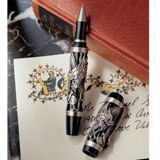 Twin Dragons Sculptural Pewter Pen