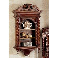 Charles II Wall Curio Cabinet