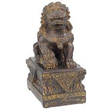 Chinese Guardian Male Lion Foo Dog Figurine