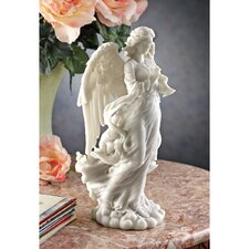 Angel Trumpeting Cathedral Figurine