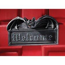 Vampire Bat Welcome Wall Plaque (Set of 2)