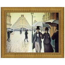 Rue du Paris, Rainy Day, 1877 by Gustave Caillebotte Framed Painting Print