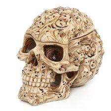 Skull's Soul Spirit Sculptural Box in Aged Bone