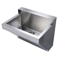 "Noah's 30"" x 22.25"" Stainless Steel Commercial Wall Hung Laundry-Scrub Kitchen Sink"