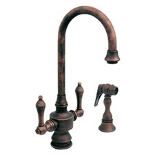 Vintage III Single Hole or Dual Handle Entertainment or Prep Faucet with Lever Handles and Side Spray