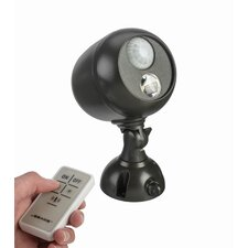 Battery Powered Motion Sensing LED Remote Outdoor Security Spotlight