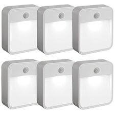 Mr Beams MB726 Battery Powered Motion Sensing LED Nightlight, White, 6-Pack