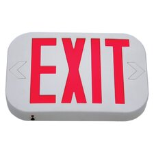 Low Profile Double Face Exit Sign with White Housing