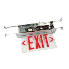 Recessed Edge Lit Double Face LED Exit Sign for Hard Lid Ceilings