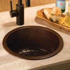 "15"" x 15"" Redondo Chico Hand Hammered Bar Sink"