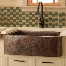 "Farmhouse 33"" Copper Kitchen Sink"