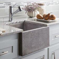 "Ventana 15"" x 15"" Stone Bar & Prep Kitchen Sink"