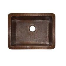 """Cocina 24"""" x 18"""" Copper Kitchen Sink"""