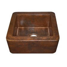 "Cabana 16"" x 7.5"" Copper Bar Sink"