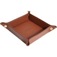 Royce Leather Travel valet jewelry tray in Genuine Leather