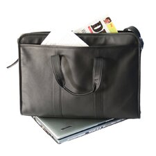 Genuine Leather Lightweight Expandable Laptop Briefcase