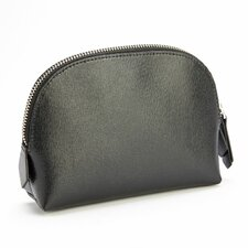 Saffiano Leather Travel Cosmetic Makeup Bag