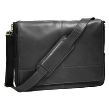 Luxury Calfskin Suede Lined Laptop Messenger Bag