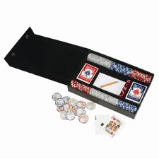 Royce Leather Professional Poker Gaming Set in Bonded Leather