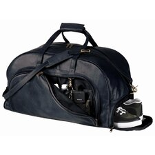 Royce Leather Full Grain Cowhide Travel Duffel Bag with Shoe Compartment