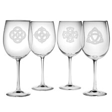 Celtic Knots Wine Glass (Set of 4)