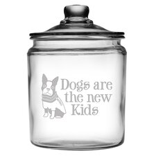 64 Oz. Dogs are the New Kids Half Gallon Jar with Lid